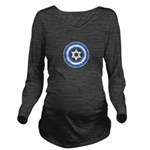 Captain Israel Long Sleeve Maternity T-Shirt