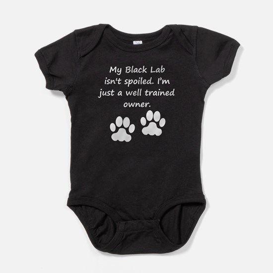 Well Trained Black Lab Owner Baby Bodysuit