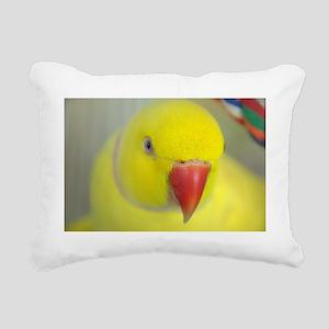 Indian Ringneck Parakeet Rectangular Canvas Pillow