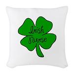 Irish Nurse Woven Throw Pillow