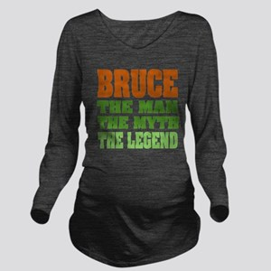 Bruce The Legend Long Sleeve Maternity T-Shirt