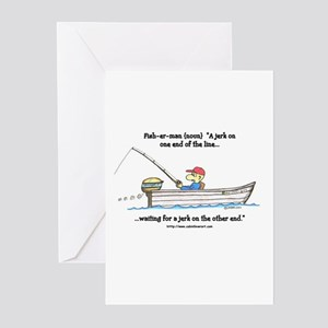 defintion: fisherman Greeting Cards (Pk of 10)
