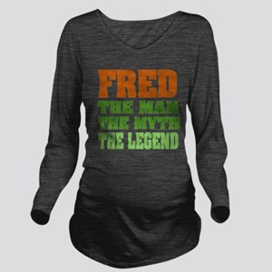 Fred The Legend Long Sleeve Maternity T-Shirt