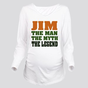 Jim The Legend Long Sleeve Maternity T-Shirt