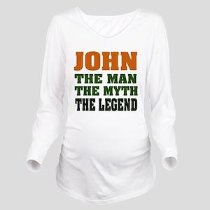John The Legend Long Sleeve Maternity T-Shirt