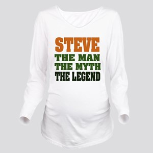 Steve The Legend Long Sleeve Maternity T-Shirt