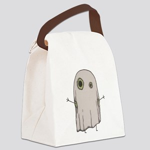 Ghost Pea Monster Canvas Lunch Bag