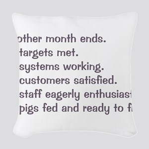 All Targets Met Woven Throw Pillow