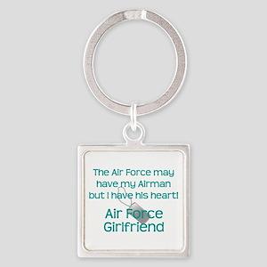 Air Force Girlfriend Heart Keychains