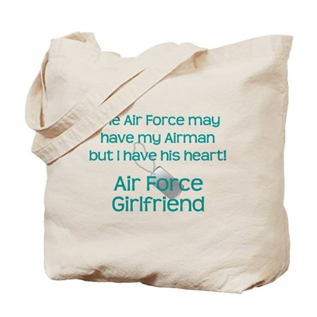 Air Force Girlfriend Heart Tote Bag