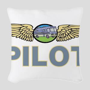 RV Pilot Woven Throw Pillow