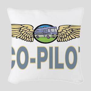 RV Co-Pilot Woven Throw Pillow