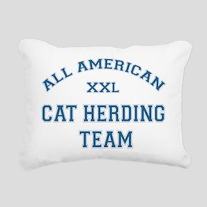 AA Cat Herding Team Rectangular Canvas Pillow