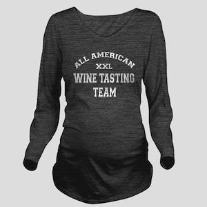 AA Wine Tasting Team Long Sleeve Maternity T-Shirt