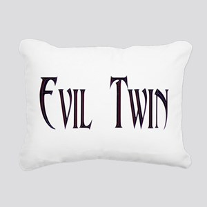 Evil Twin Rectangular Canvas Pillow