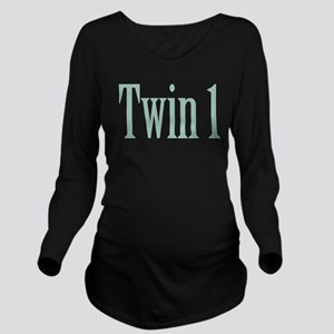 Twin 1 Long Sleeve Maternity T-Shirt