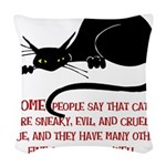 Sneaky Cats Woven Throw Pillow