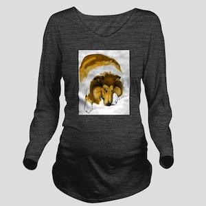 Chase Sleeping Long Sleeve Maternity T-Shirt