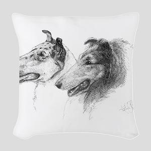 Rough Smooth Collies Woven Throw Pillow