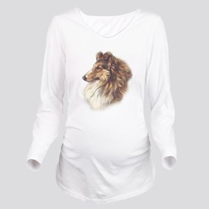 Vintage Sable Collie Long Sleeve Maternity T-Shirt
