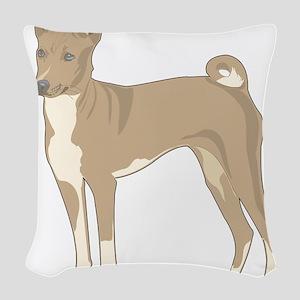 Basenji Woven Throw Pillow