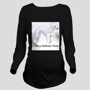I Love my Bedlington Terrier Long Sleeve Maternity
