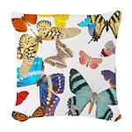 Beautiful Butterflies Woven Throw Pillow