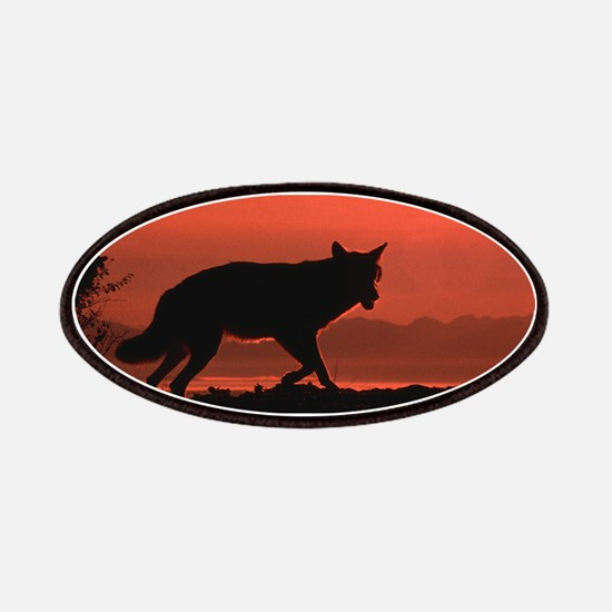 Sunset Wolf Patches