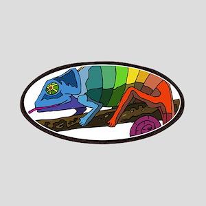 Rainbow Chameleon Patches