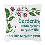 Gardening adds Years Woven Throw Pillow