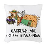 Gardens are Gods Blessing Woven Throw Pillow
