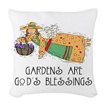 Gardens are Gods Blessing Woven Throw Pillow
