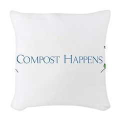 Compost Happens Woven Throw Pillow