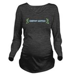 Compost Happens Long Sleeve Maternity T-Shirt