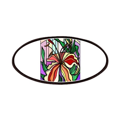 Stained Glass Tiger Lily Patches