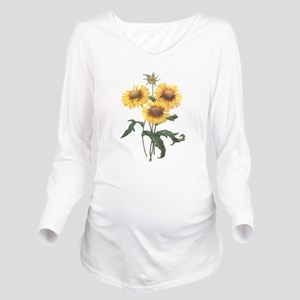 Redoute Sunflowers Long Sleeve Maternity T-Shirt