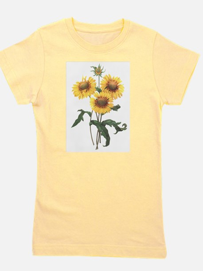 Redoute Sunflowers Girl's Tee