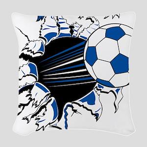Soccer Ball Burst Woven Throw Pillow