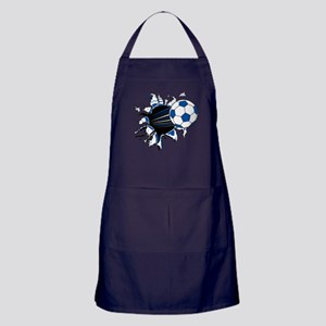 Soccer Ball Burst Apron (dark)