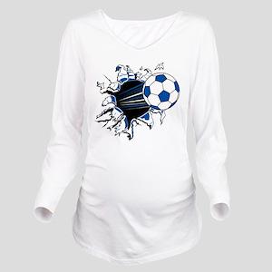 Soccer Ball Burst Long Sleeve Maternity T-Shirt