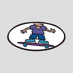 Skateboard Kid Patches
