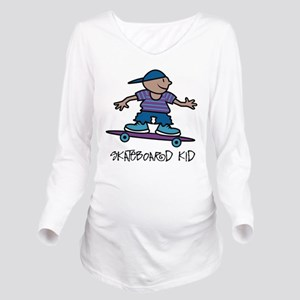 Skateboard Kid Long Sleeve Maternity T-Shirt