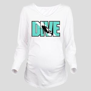 Dive Long Sleeve Maternity T-Shirt