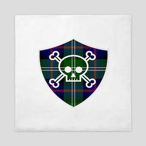 Sutherland Tartan Skull And Bones Shield Queen Duv