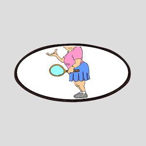 Butt Kicking Tennis Player Patches