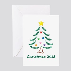 Christmas Tree 2013 Greeting Cards (Pk of 10)