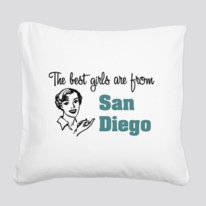 Best Girls San Diego Square Canvas Pillow