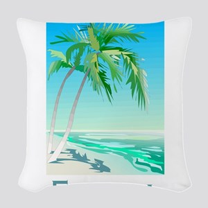 Florida Palms Woven Throw Pillow