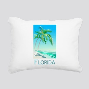 Florida Palms Rectangular Canvas Pillow