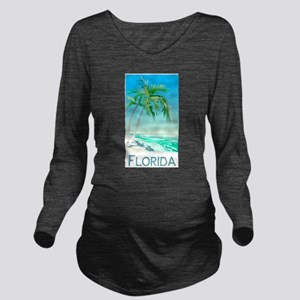 Florida Palms Long Sleeve Maternity T-Shirt